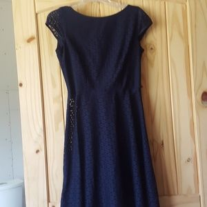 Midi navy blue dress